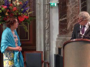 Hanneke de Haes en burgemeester Eberhard van der Laan